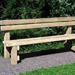 Sitzbank SARNEN mit Rückenlehne