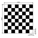 """Spielfläche """"Schach und Dame"""""""