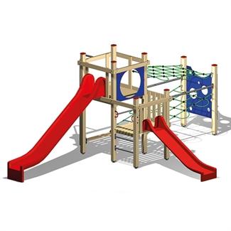 Bilder von Spielanlage 4 mit 2 Rutschbahnen