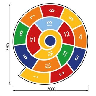 Bilder von Hüpfspiel «Spirale»