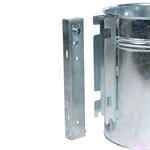 Rund-Abfallbehälter verstärkt, 35 Liter